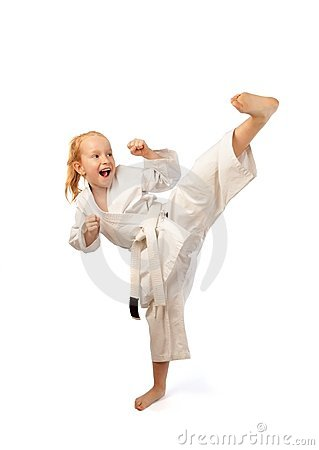 Free Karate Girl Royalty Free Stock Image - 12077526