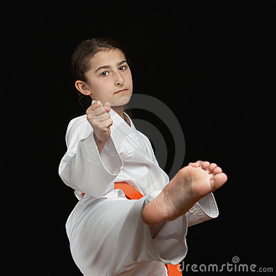Karate Girl Royalty Free Stock Photo Image 18503895
