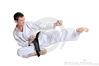 Karate Jump Royalty Free Stock Photos - Image: 23884938