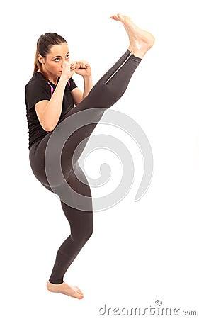 Free Karate Kick Royalty Free Stock Photos - 21000088