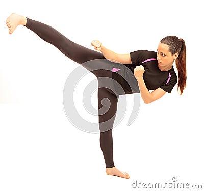Free Karate Kick Stock Photography - 21000092