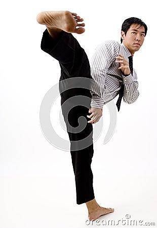 Free Karate Kick Royalty Free Stock Photos - 807928