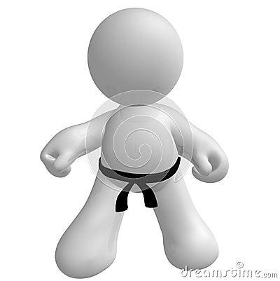 Karate kid kungfu pose icon