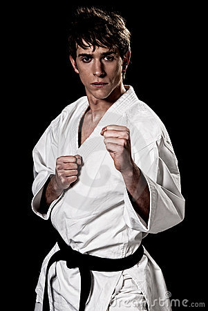 Karate male fighter young high contrast