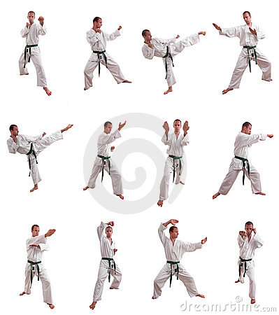Free Karate Man Collage Stock Images - 11081824