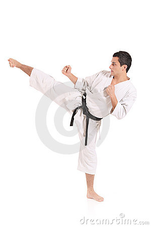 Free Karate Man Exercising Stock Photo - 7790610