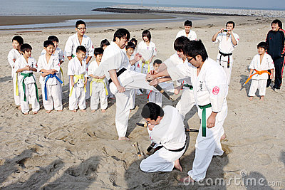 Karate men Editorial Stock Photo