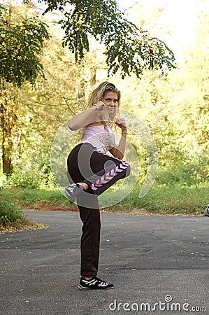 Free Karate Teen Girl Stock Photography - 3358012