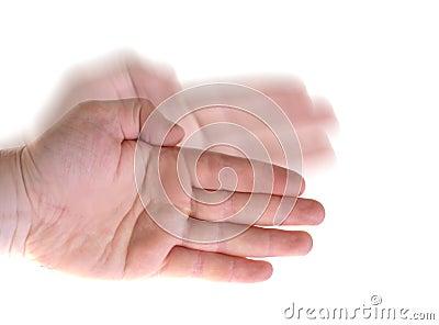 Karate wave hand