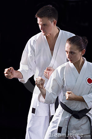Karateka couple