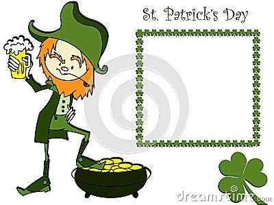 Karciany dzień Patrick s sain