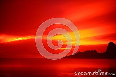 ηλιοβασίλεμα παραλιών karekare