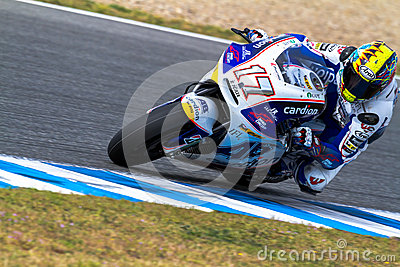 Karel Abraham pilot of MotoGP Editorial Stock Image