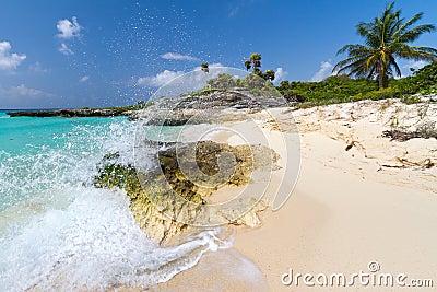 Karibiskt idylliskt landskap