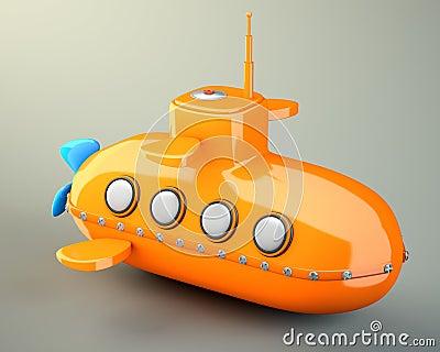 Karikatur-angeredetes Unterseeboot