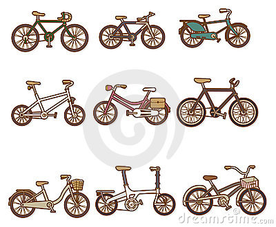 Karikatur-Fahrrad