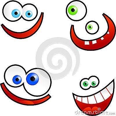 Karikatur-Gesichter