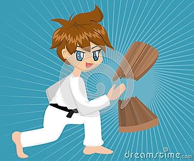 Karikatur-Karate-Junge