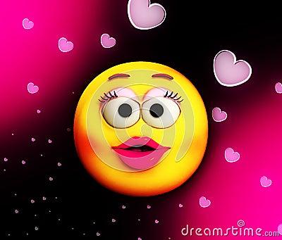 Karikatur-Kuss der Liebe