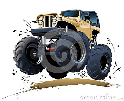 Karikatur-Monstertruck