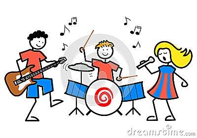 Karikatur scherzt Musik