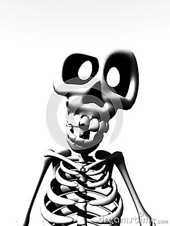 Karikatur-Skelett