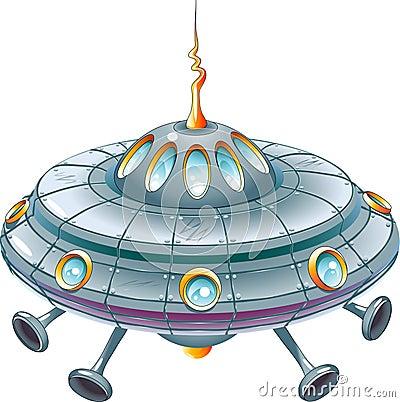 Ufo in der karikaturart als abbildung