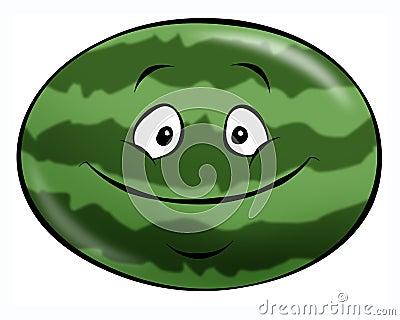 Karikatur-Wassermelone
