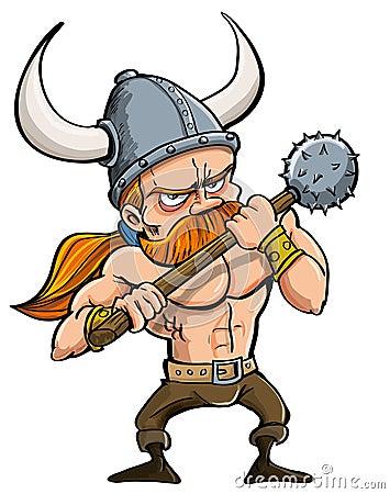 Karikatur Wikinger
