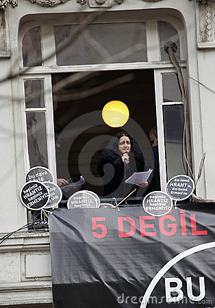 Karin Karakasli in Hrant Dink commemoration Editorial Photo