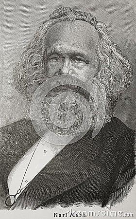 Karl Marx Editorial Photo