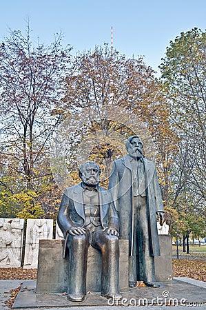 Karl Marx and Friedrich Engels at Berlin, Germany