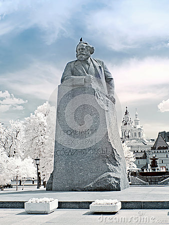 Karl Marx. Infrared photo