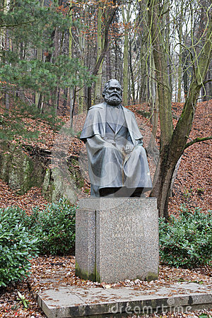 Karl Marx monument in Karlovy Vary Editorial Image