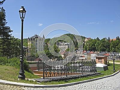Karlovy Vary,Czech famous spa place