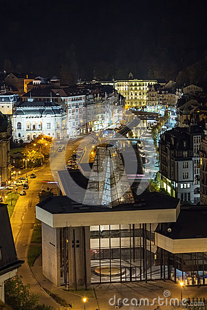 Karlovy Vary in evening light
