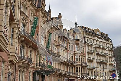 Karlovy Vary Hotel Carlsbad Plaza Editorial Stock Image