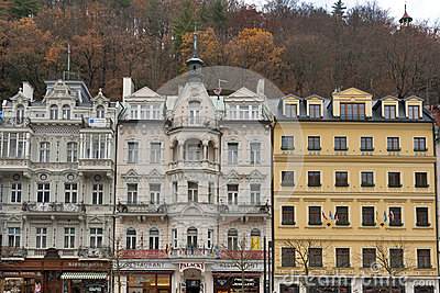Karlovy Vary residential architecture Editorial Stock Photo