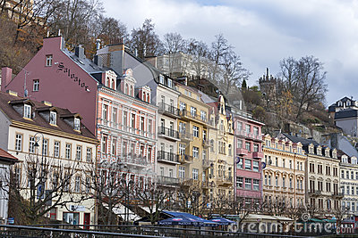 Karlovy Vary residential architecture Editorial Image