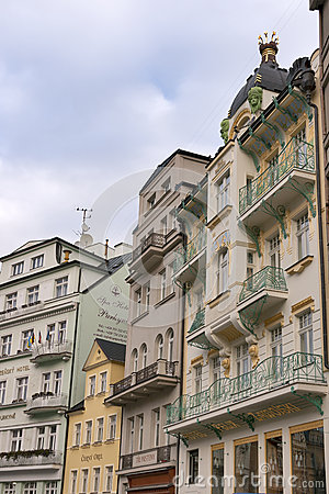 Karlovy Vary small hotels Editorial Stock Photo