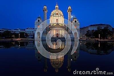 Karls Church, Vienna Editorial Photography