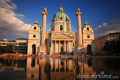 Karls Church, Vienna Editorial Image