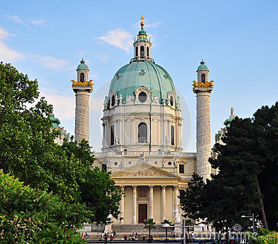 Karlskirche and trees