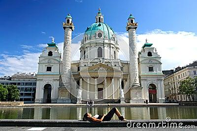 Karlskirche in Vienna Editorial Photo