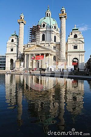 Karlskirche in Vienna Editorial Image
