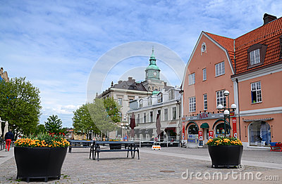 Karlskrona, main city square - June 07 Editorial Stock Image