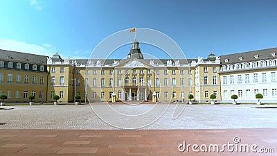 Karlsruhe duitsland Diverse mooie meningen van de oude stad en de omgeving stock footage