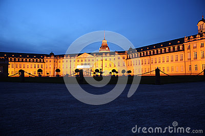 Karlsruhe Palace at night Editorial Image