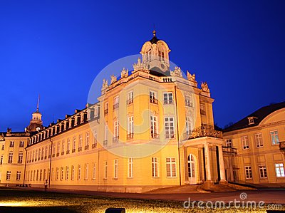Karlsruhe Palace at night