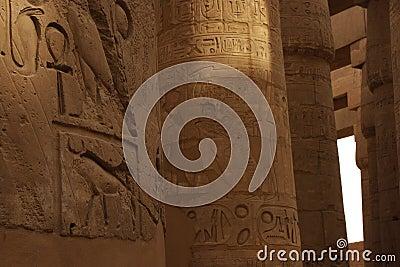 Karnak temple hieroglyphs